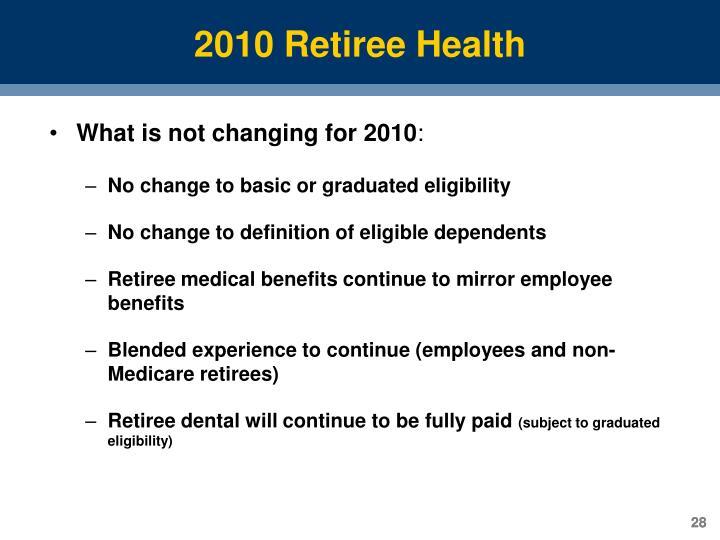 2010 Retiree Health
