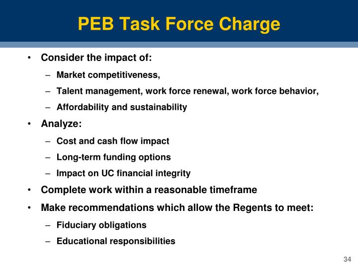 PEB Task Force Charge