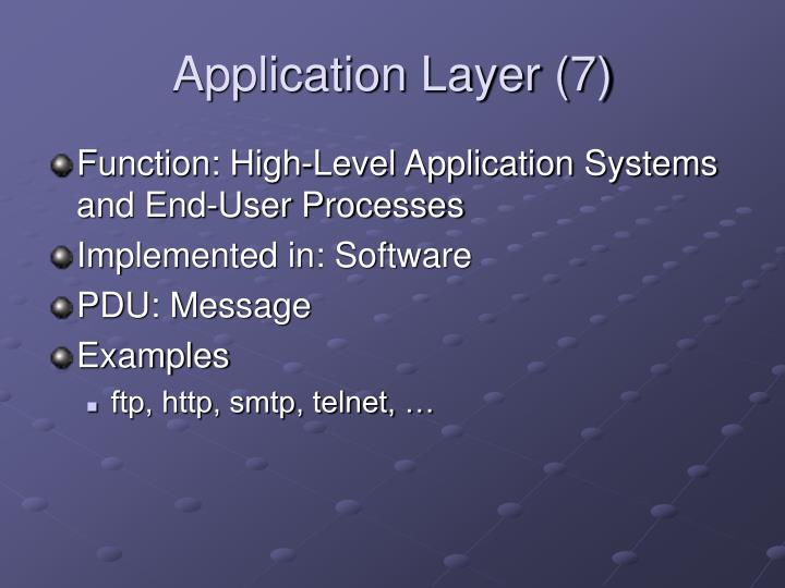 Application Layer (7)