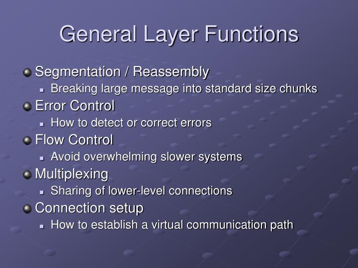 General Layer Functions