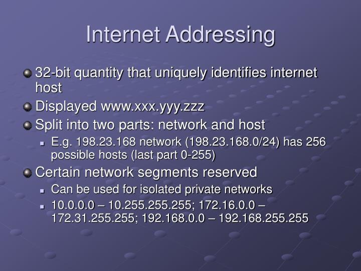 Internet Addressing