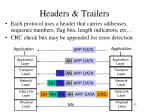 headers trailers