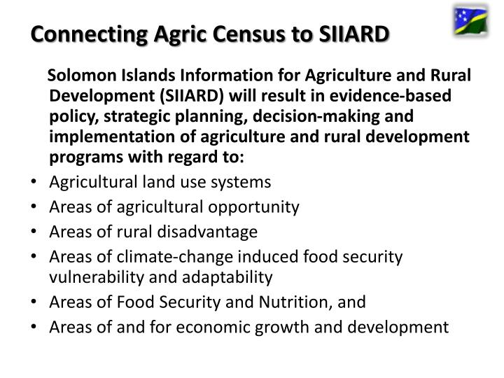 Connecting Agric Census to SIIARD