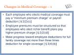 changes in medical coverage 1