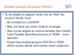 health savings accounts hsa s