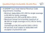 qualified high deductible health plan