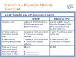 scenario 2 expensive medical treatment