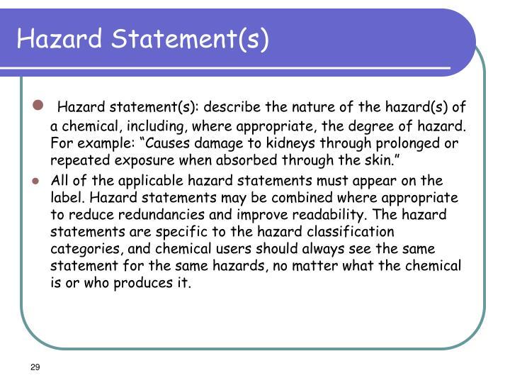 Hazard Statement(s)