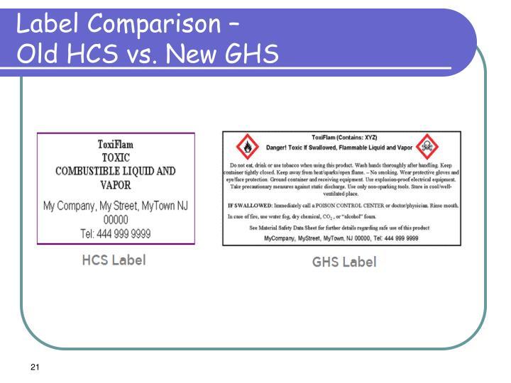 Label Comparison –