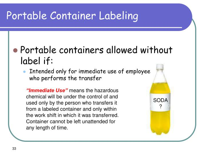 Portable Container Labeling