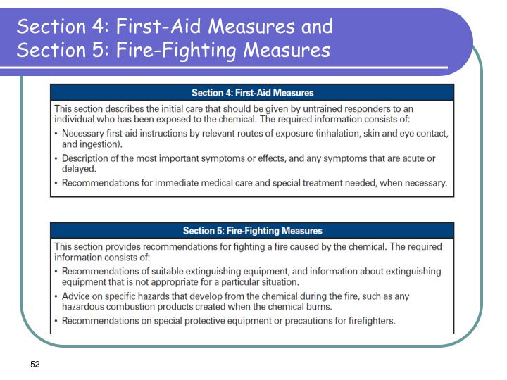Section 4: First-Aid Measures and