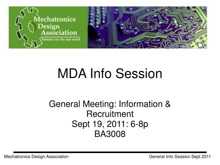 mda info session n.