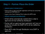 step 4 partner place the order2