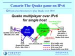 canarie the quake game on ipv6