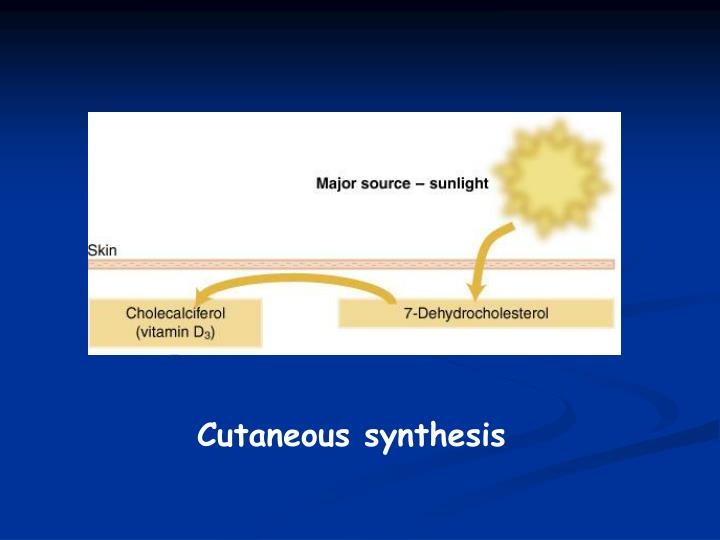 Cutaneous synthesis