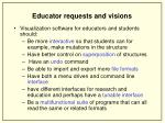 educator requests and visions