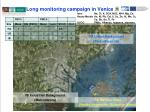 long monitoring campaign in venice