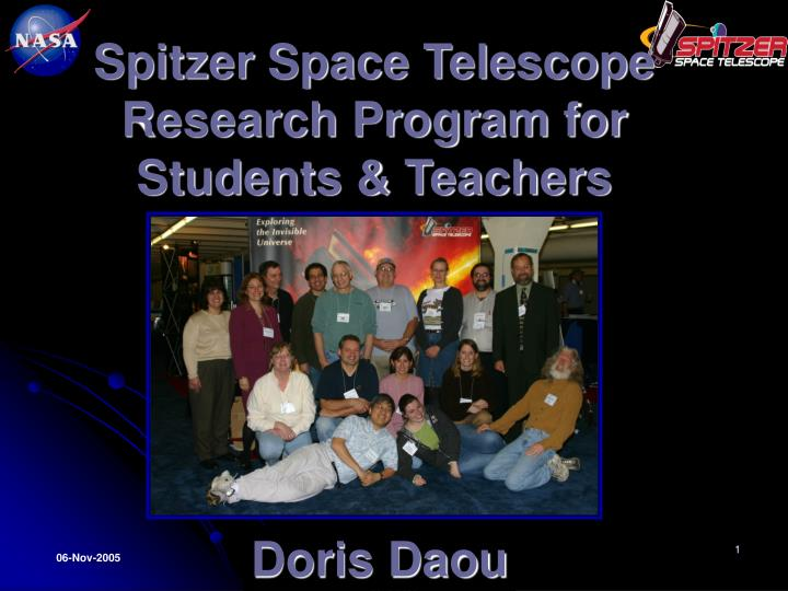 Spitzer space telescope research program for students teachers