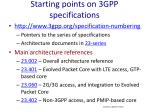 starting points on 3gpp specifications