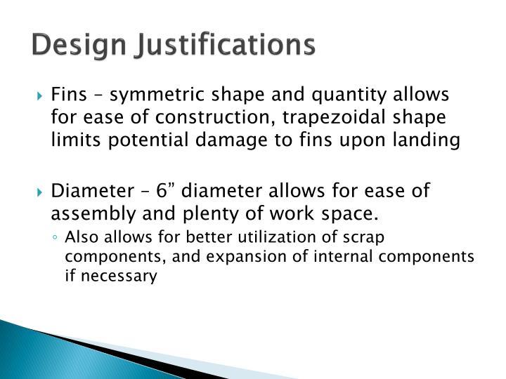 Design Justifications