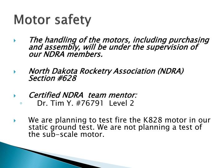 Motor safety