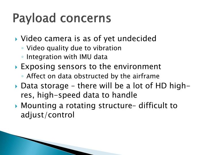 Payload concerns