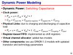 dynamic power modeling