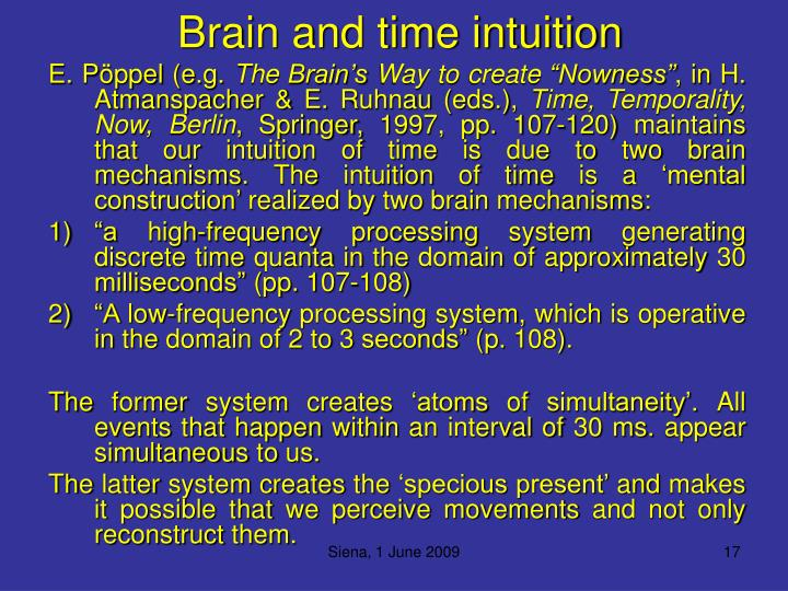 Brain and time intuition