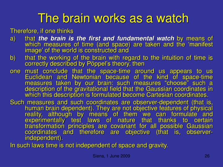The brain works as a watch