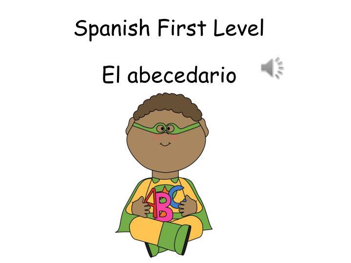 spanish first level n.