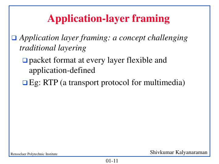 Application-layer framing