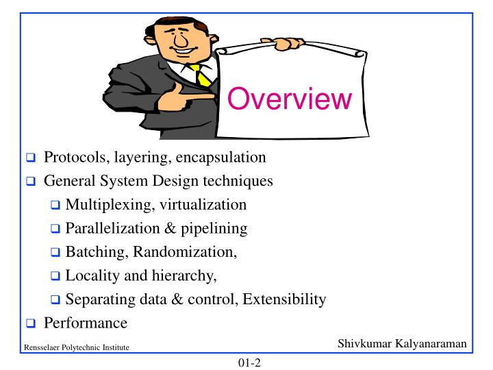 Protocols, layering, encapsulation