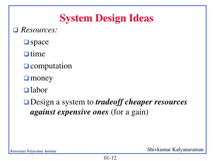 System Design Ideas