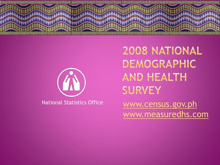 2008 national demographic and health survey