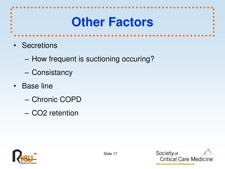 Other Factors
