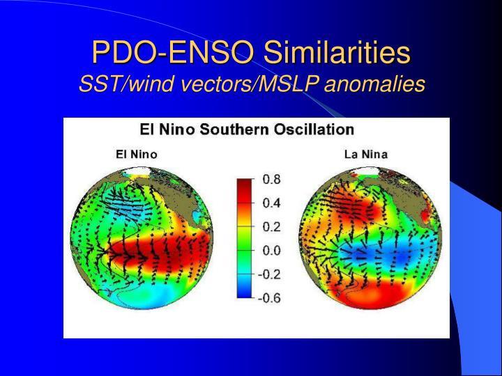 PDO-ENSO Similarities
