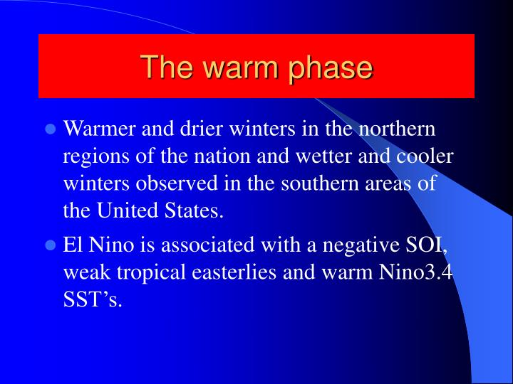 The warm phase