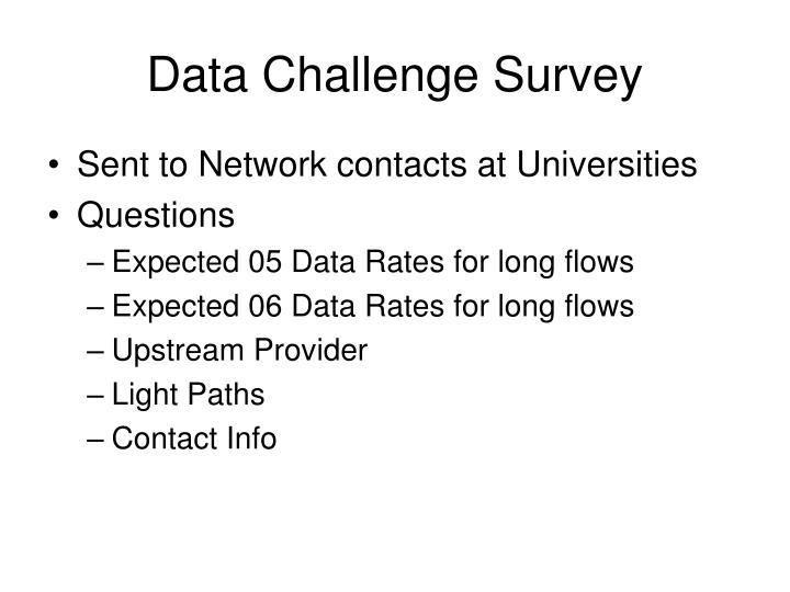 Data Challenge Survey