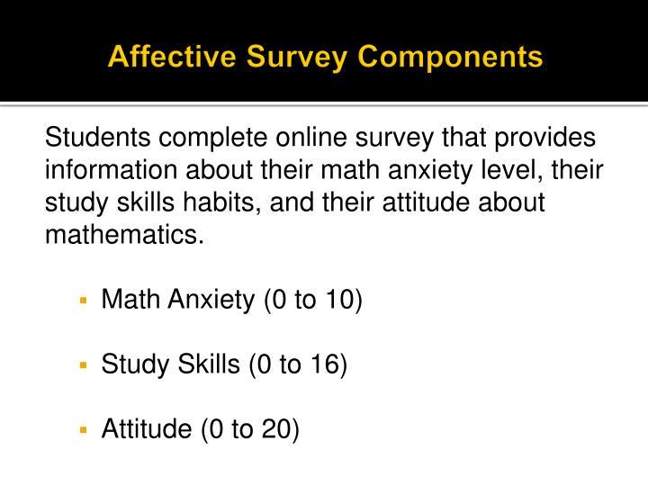 Affective Survey Components