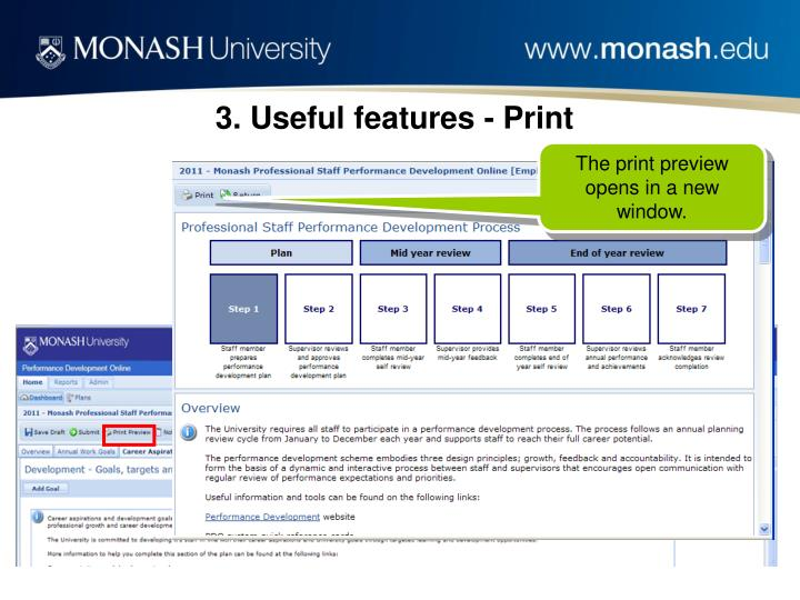 3. Useful features - Print