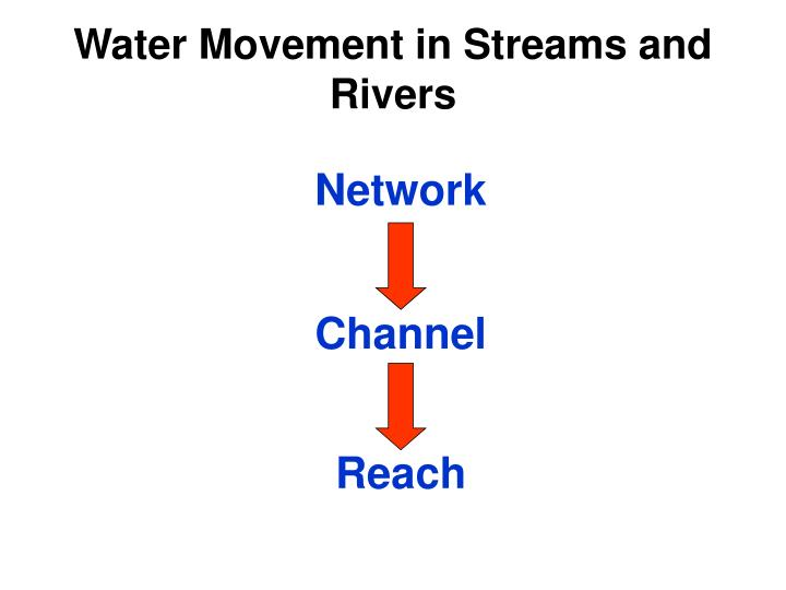 Water Movement in Streams and Rivers