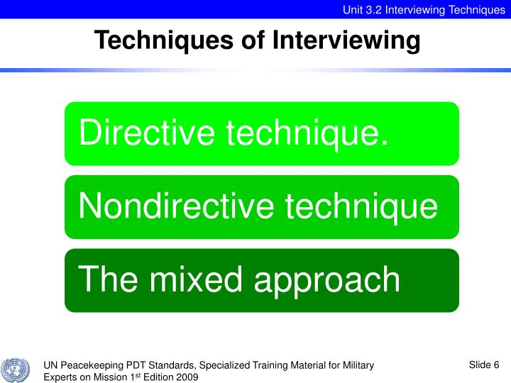 Techniques of Interviewing