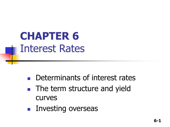 Chapter 6 interest rates