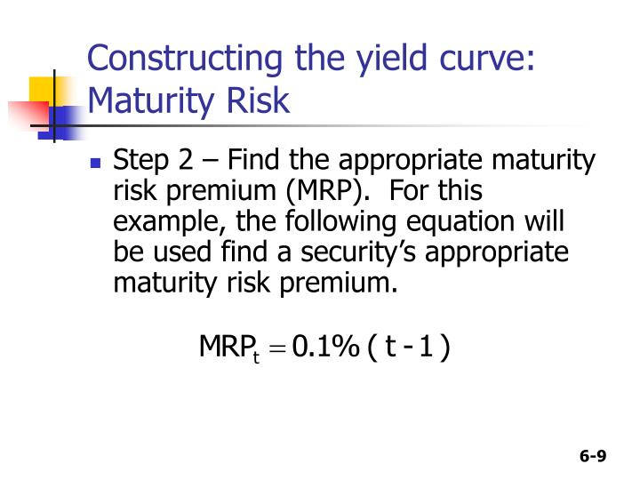 Constructing the yield curve: Maturity Risk