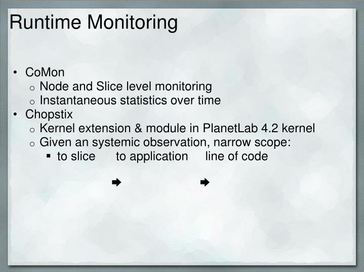 Runtime Monitoring