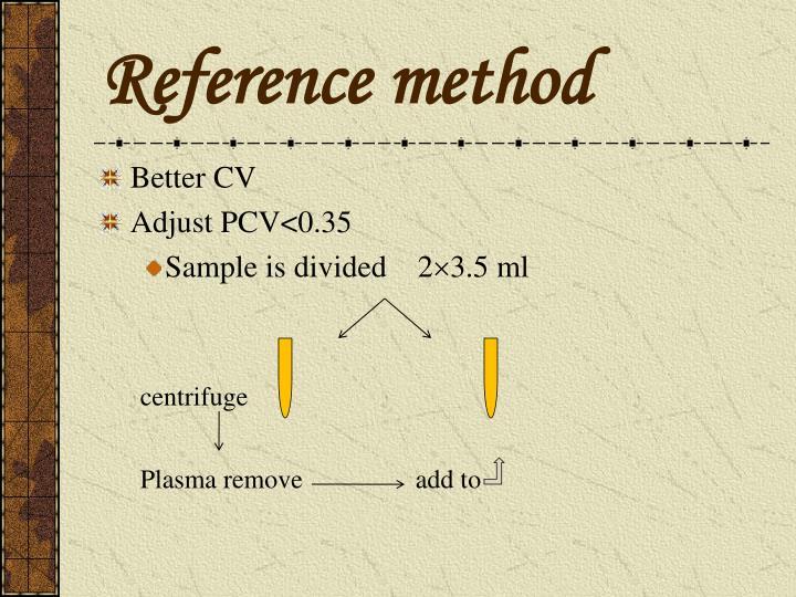 Reference method