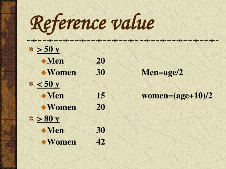 Reference value