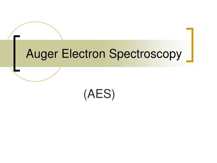 auger electron spectroscopy n.