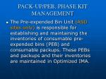 pack up peb phase kit management1