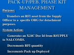 pack up peb phase kit management3